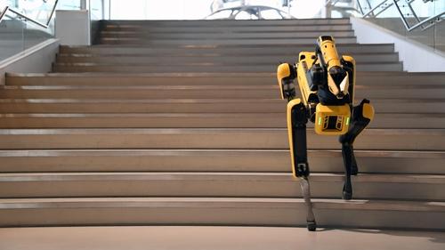 계단 올라가는 '로봇 개' 스팟