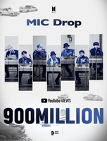 El vídeo musical de 'MIC Drop' de BTS supera los 900 millones de visualizaciones en YouTube