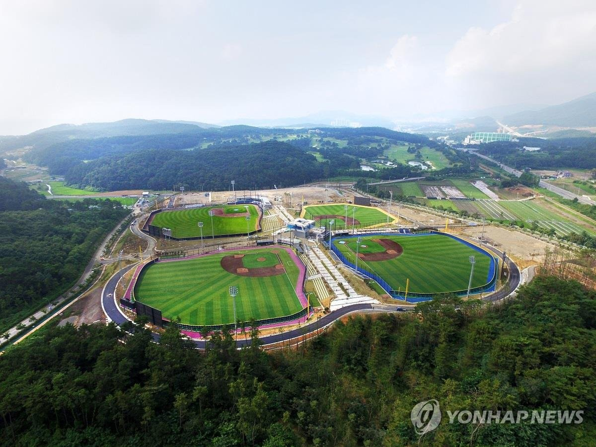 This photo provided by the Korea Baseball Softball Association on July 14, 2018, shows Gijang-Hyundai Dream Ballpark in Gijang County in Busan, 450 kilometers southeast of Seoul. (PHOTO NOT FOR SALE) (Yonhap)