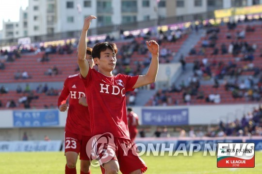 This undated photo provided by the K League shows Busan IPark FC right back Kim Moon-hwan. (Yonhap)