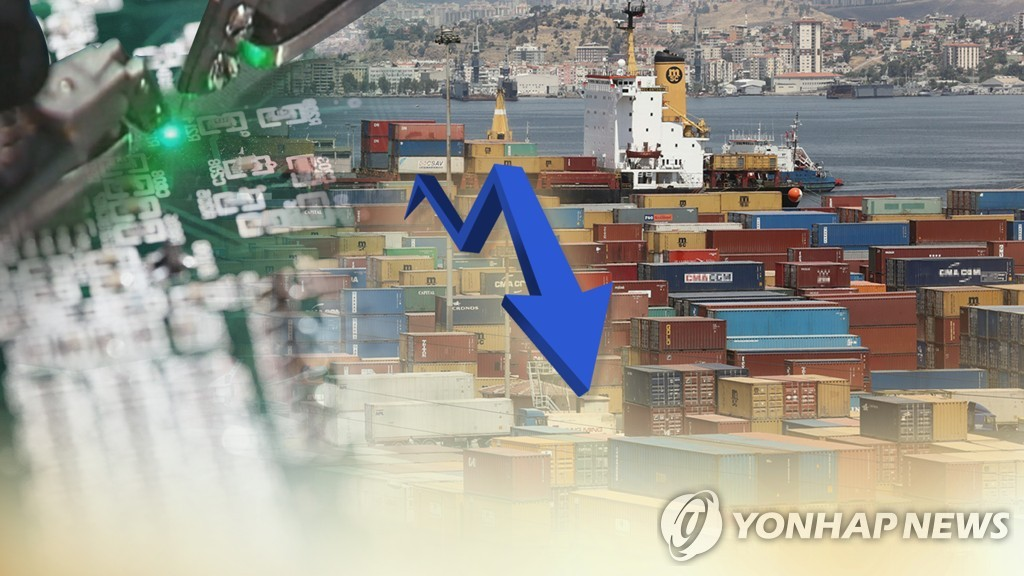 (2nd LD) S. Korea's exports fall 8.2 pct in March - 2