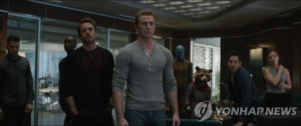 "A scene from ""Avengers: Endgame"" provided by Walt Disney Company Korea (Yonhap)"