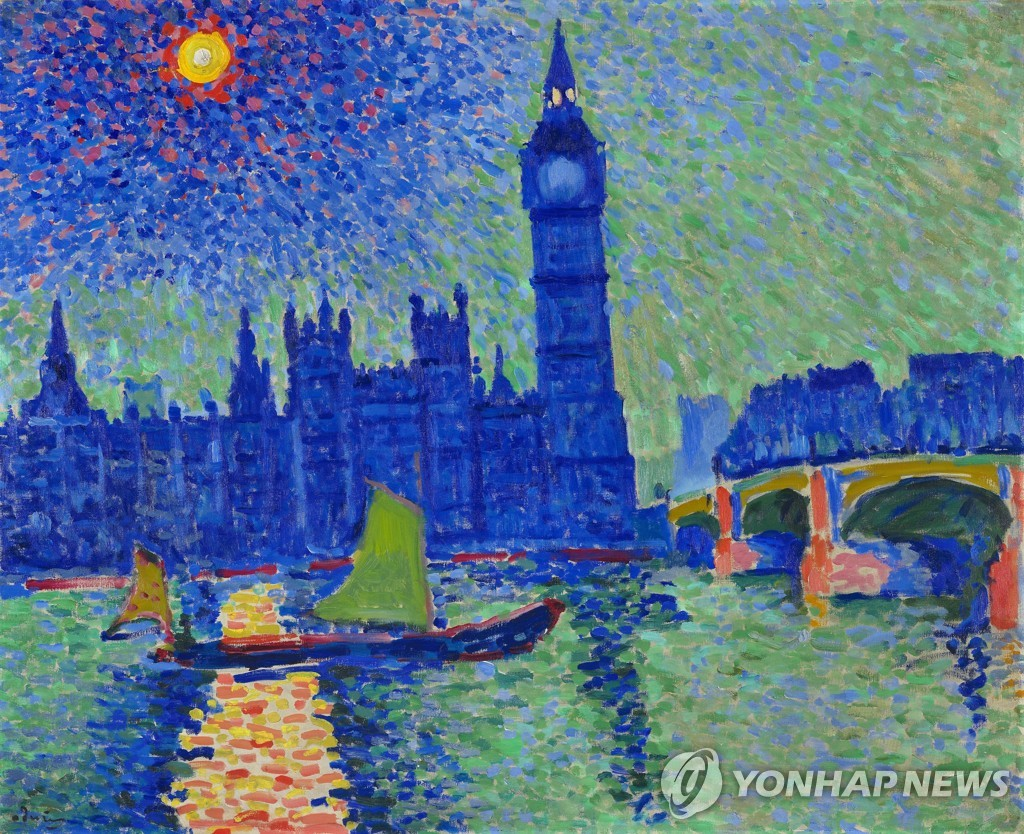 "This image, provided by France's Troyes Museum of Modern Art, shows ""Big Ben,"" the acclaimed work by French artist Andre Derain. (PHOTO NOT FOR SALE) (Yonhap)"