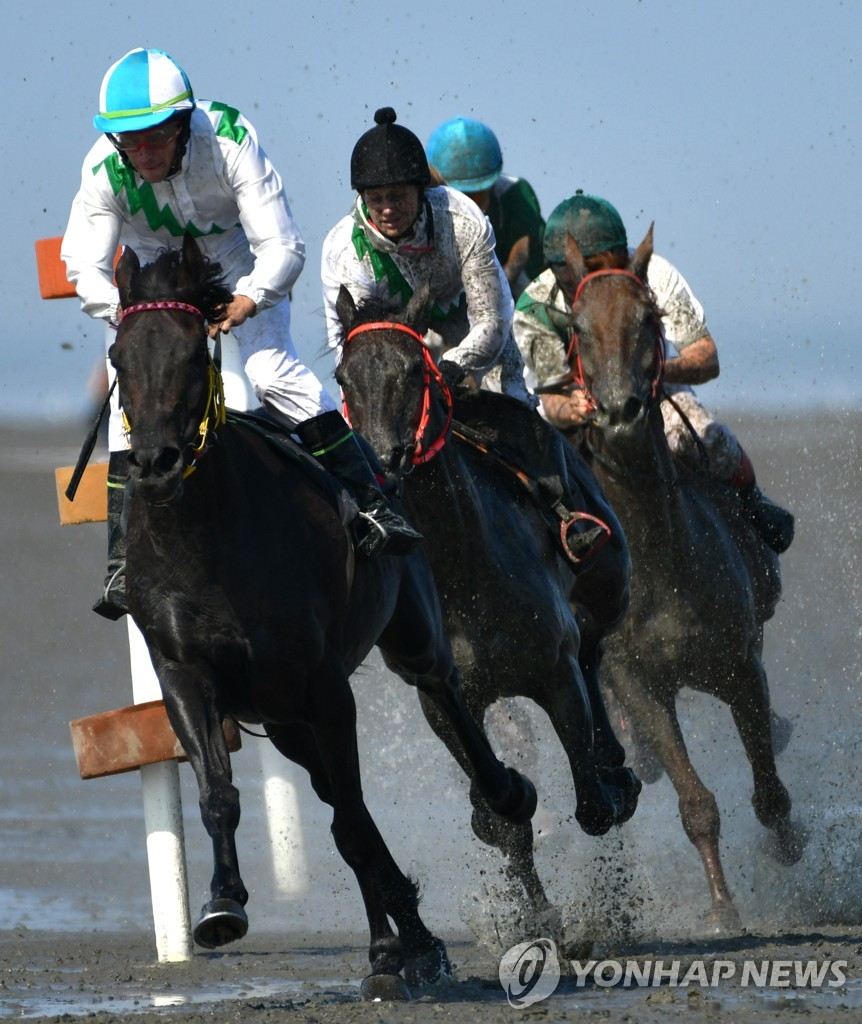 GERMANY-TRADITION-HORSE RACE-MUD-FEATURE