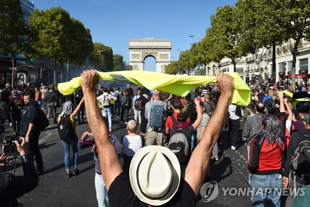 佛, '노란 조끼' 부활? 반정부 시위에 경찰 7천500명 배치 | 연합뉴스