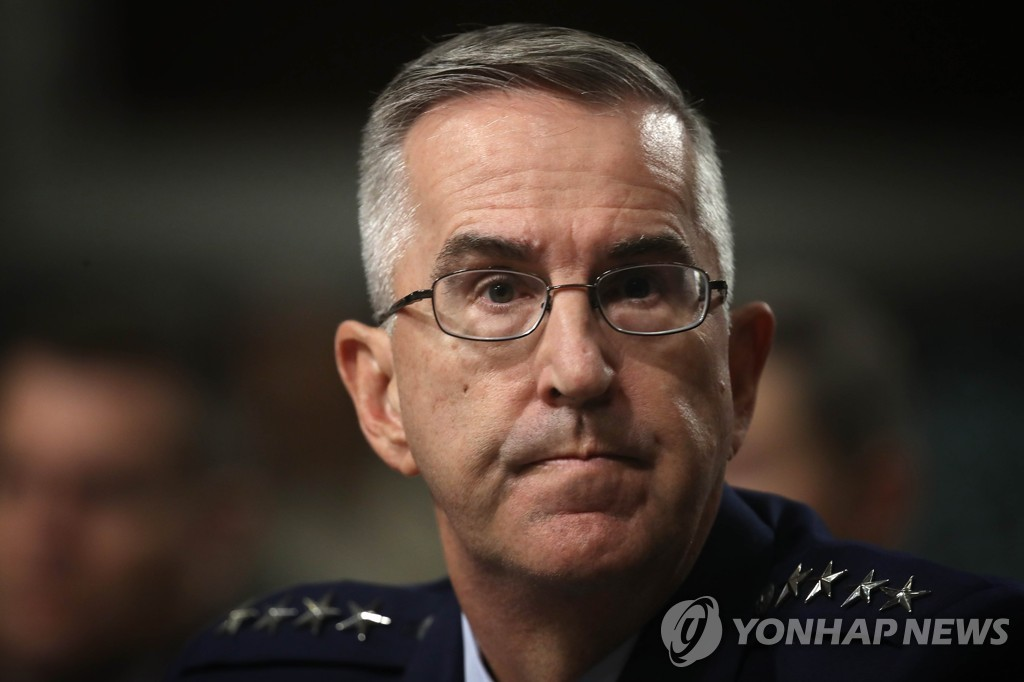 This AFP file photo shows U.S. Joint Chiefs of Staff Vice Chairman Gen. John Hyten. (Yonhap)