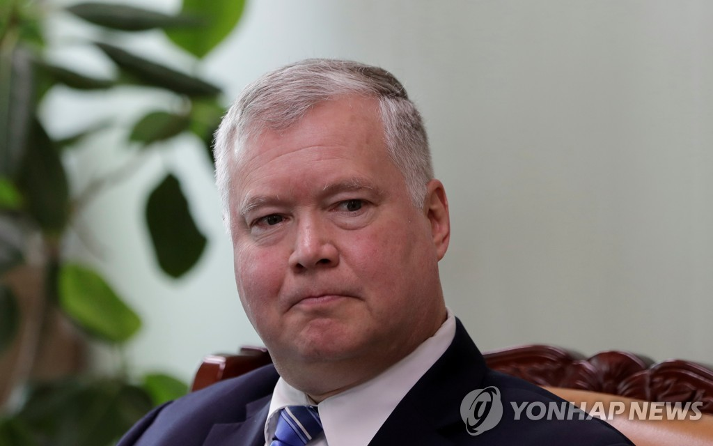 This Reuters file photo shows U.S. Special Representative for North Korea Stephen Biegun. (Yonhap)