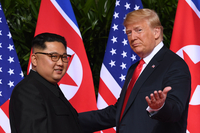 (LEAD) Trump says 'in no hurry' to negotiate with N. Korea