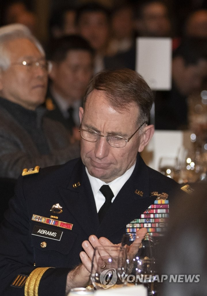 Gen. Robert Abrams, the U.S. Forces Korea commander, attends an alliance friendship event in Seoul on Dec. 11, 2018. (Yonhap)