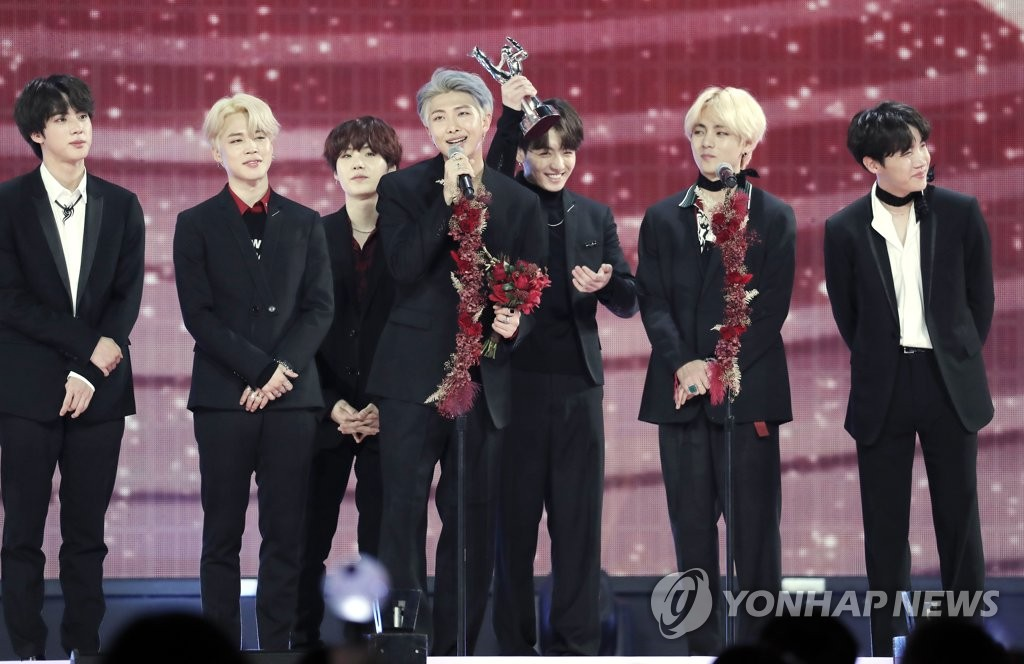 BTS takes top prize for album sales