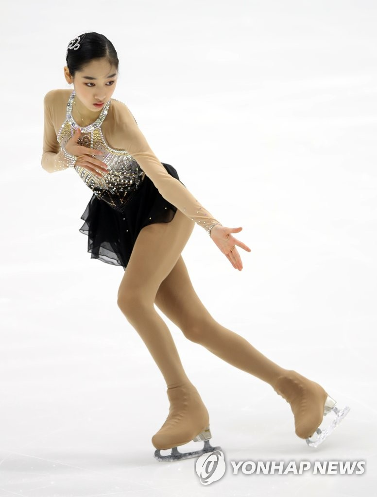 In this file photo from Jan. 13, 2019, South Korean figure skater Wi Seo-yeong performs her free skate at the Korea Figure Skating Championship at Mokdong Ice Rink in Seoul. (Yonhap)