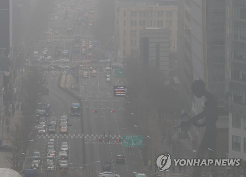 Choking fine dust envelops S. Korea for 5th straight day