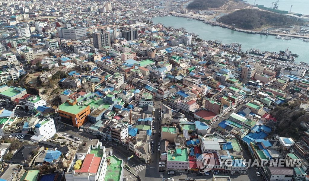 This photo, taken Jan. 17, 2019, shows a bird's-eye view of an old district in the country's southwestern city of Mokpo at the center of controversy over alleged real estate speculation by a ruling party lawmaker. (Yonhap)