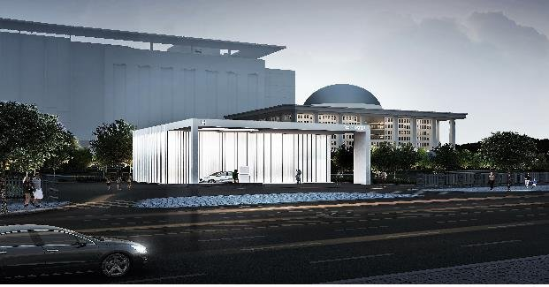Shown in the photo provided by the Ministry of Trade, Industry and Energy on Sept. 10, 2019, is a newly built hydrogen charging station, located near the National Assembly in Seoul. (PHOTO NOT FOR SALE) (Yonhap)
