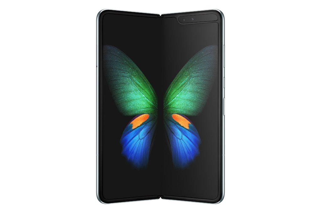 Galaxy Fold is shown in this photo provided by Samsung Electronics Co. on Feb. 21, 2019. (Yonhap)