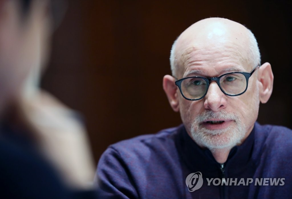 Joel Wit, founder of 38 North, a U.S. website specializing in North Korea analysis, speaks during an interview with Yonhap News Agency in Seoul on Feb. 21, 2019. (Yonhap)