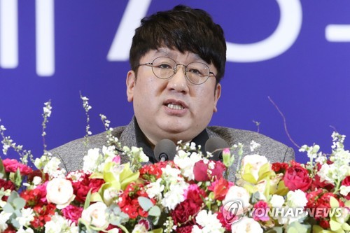 Chief BTS producer Bang Si-hyuk Korean most associated with word 'creator': poll