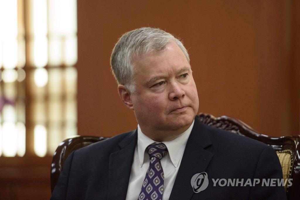 This AFP file photo shows U.S. Special Representative for North Korea Stephen Biegun. (Yonhap)
