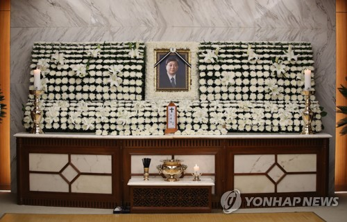 Funeral of ex-lawmaker Kim Hong-il