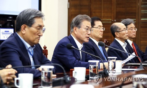 Moon's remarks on Korea-Japan trade conflict