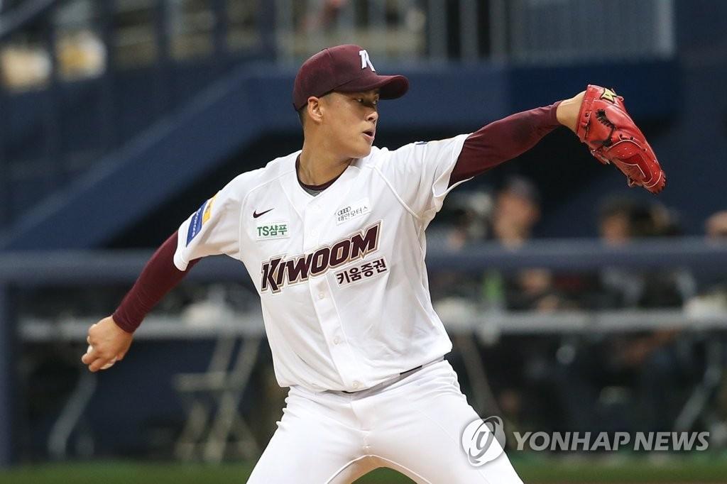 해외 유턴파 김선기 데뷔 첫 승리…3위 키움, 두산 재압박(종합) | 연합뉴스
