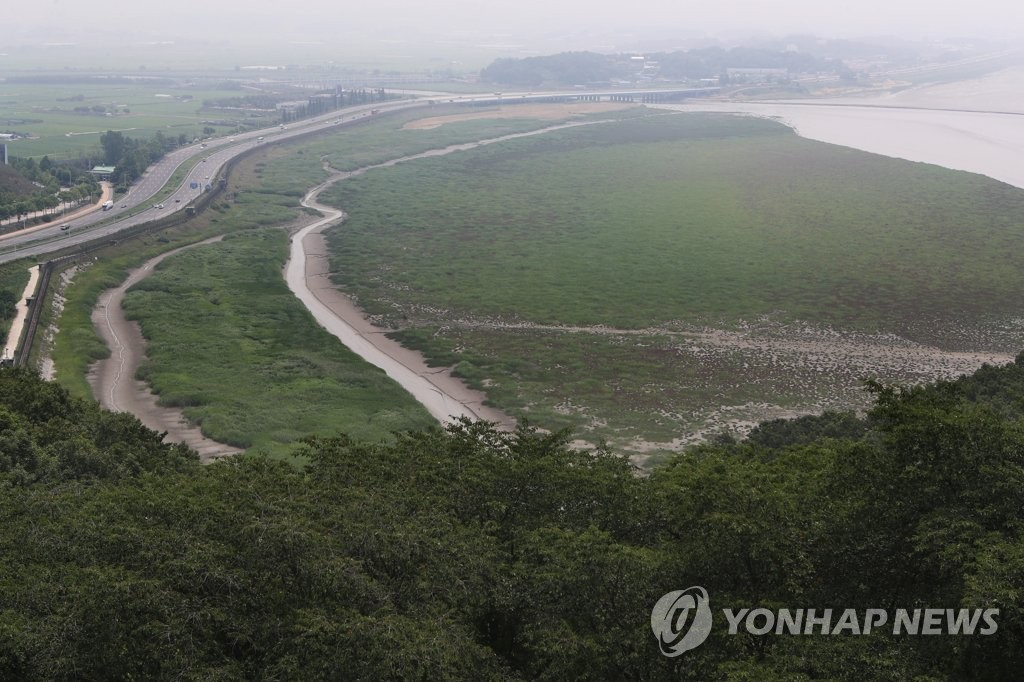 The Imjin River near South Korea's border town of Paju (Yonhap)