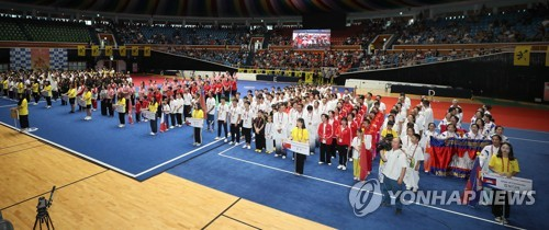 Int'l wushu competition in Jeju
