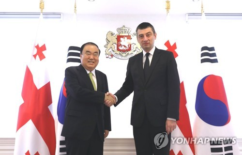 S. Korea's parliamentary chief meets Georgian prime minister