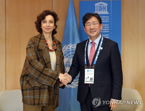 Culture minister meets UNESCO chief