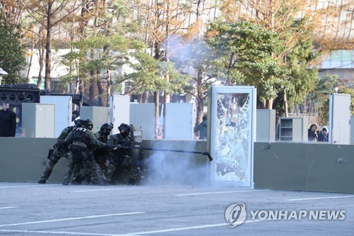 Anti-terrorist drill ahead of S. Korea-ASEAN summit