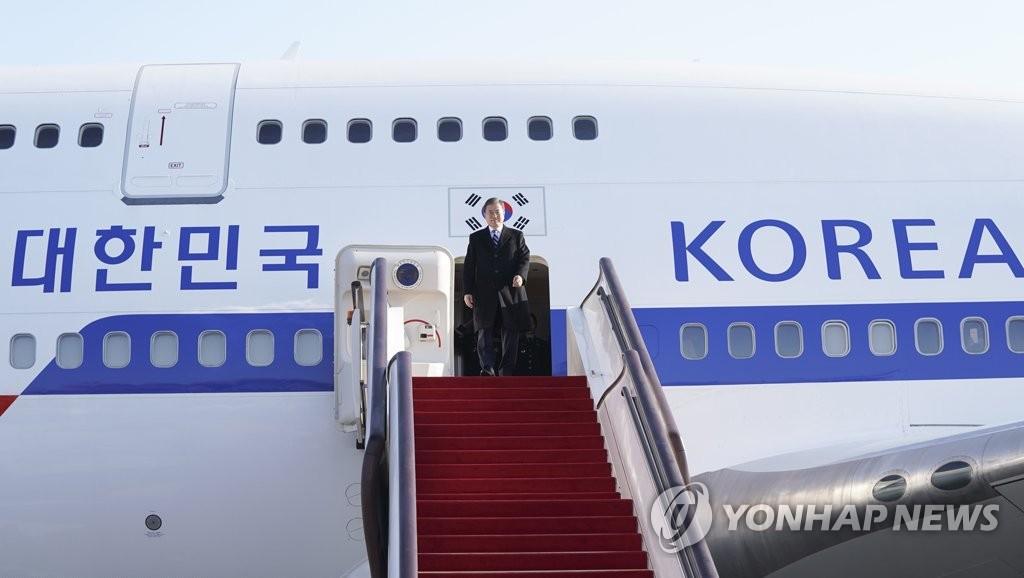 베이징 도착한 문 대통령