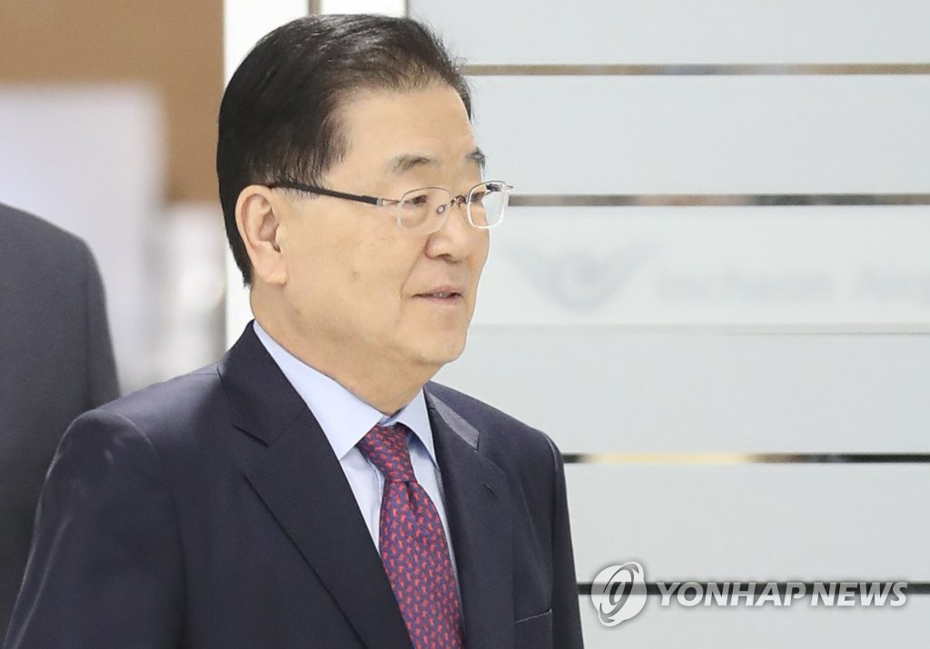 Chung Eui-yong, director of Cheong Wa Dae's national security office (Yonhap)