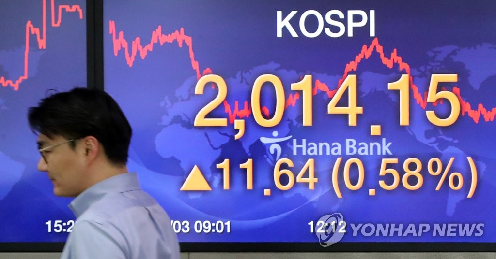This photo shows the trading room of Hana Bank in downtown Seoul on March 3, 2020. The benchmark Korea Composite Stock Price Index rose 11.64 points, or 0.58 percent, to close at 2,014.15. (Yonhap)