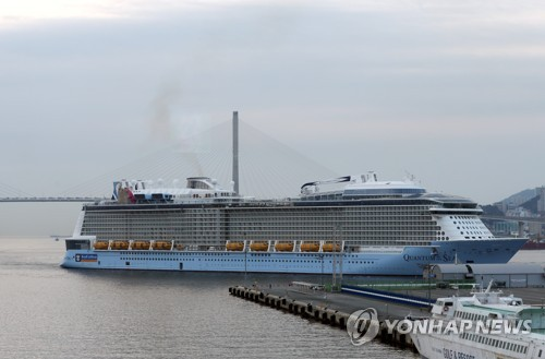 Cruise ship enters Busan for fuel, supplies