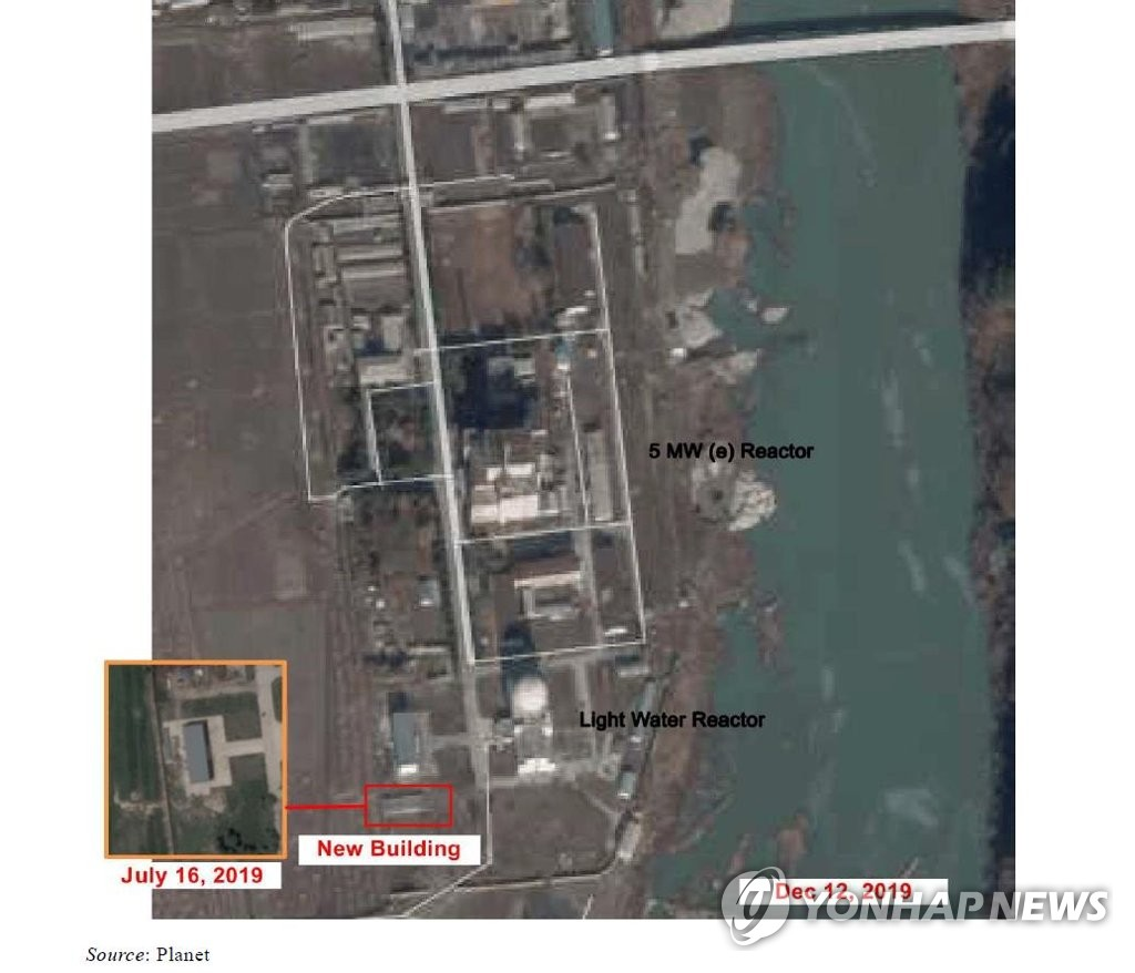 The captured image from a report of the United Nations' North Korea sanctions committee shows a satellite image of North Korea's Yongbyon nuclear site. (PHOTO NOT FOR SALE) (Yonhap)