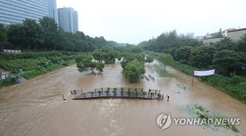 Flooded Yangjae Stream