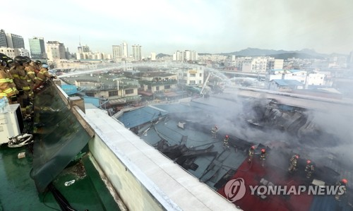Fire hits traditional market