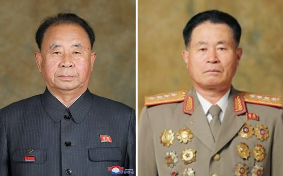 These undated file photos of the Korean Central News Agency show Ri Pyong-chol (L), vice-chairman of the Central Military Commission of the Workers' Party, and Pak Jong-chon, chief of the North Korean Army's General Staff, who were conferred the title of marshal at a politburo meeting presided over by North Korean leader Kim Jong-un in Pyongyang on Oct. 5, 2020. (For Use Only in the Republic of Korea. No Redistribution) (Yonhap)
