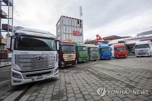 현대차, 수소전기트럭 스위스 고객사에 인도