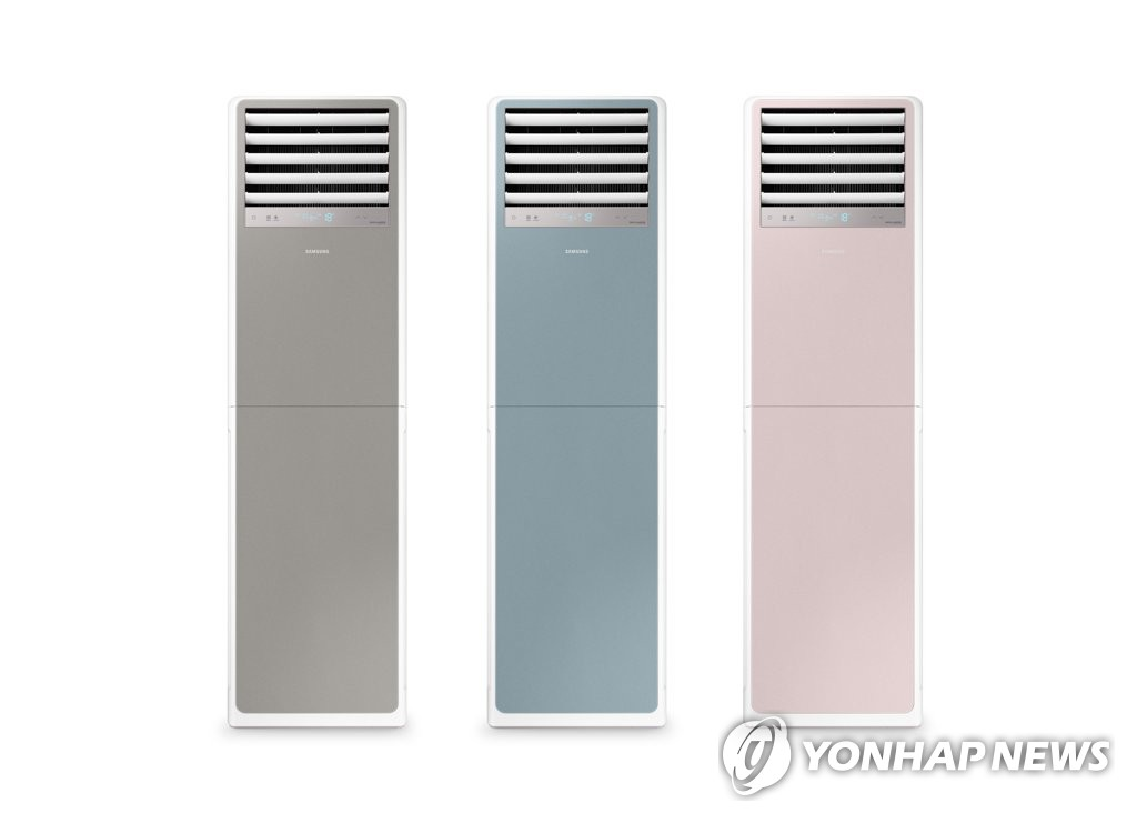 This photo provided by Samsung Electronics Co. on Nov. 1, 2020, shows the company's BESPOKE commercial-use air conditioners. (PHOTO NOT FOR SALE) (Yonhap)
