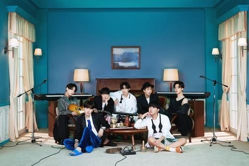 This photo, provided by Big Hit Entertainment, shows K-pop megastars BTS. (PHOTO NOT FOR SALE)(Yonhap)