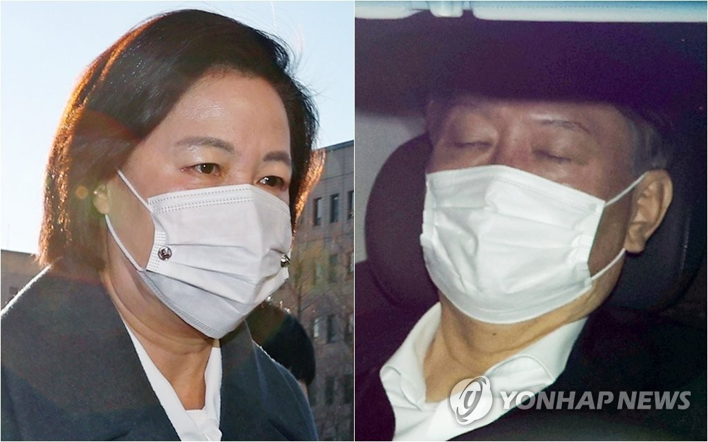 This compilation image shows Justice Minister Choo Mi-ae (L) and Prosecutor General Yoon Seok-youl. (Yonhap)