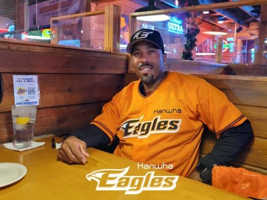 Johnny Washington, new hitting coach for the Hanwha Eagles, poses in an undisclosed location in the United States, in this photo provided by the Eagles on Dec. 20, 2020. (PHOTO NOT FOR SALE) (Yonhap)
