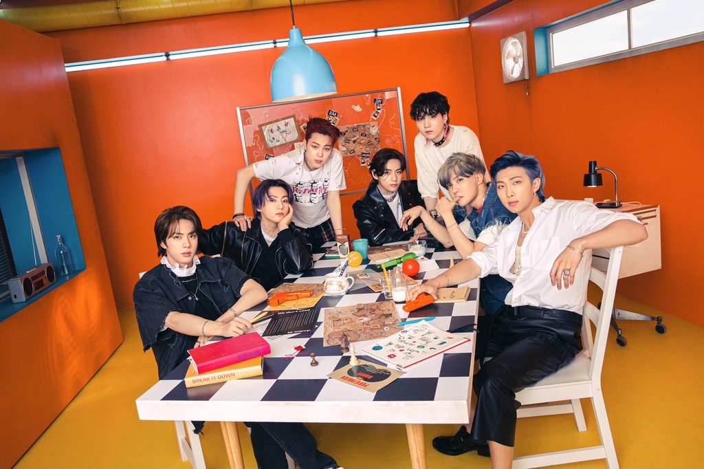 This photo, provided by Bit Hit Music, shows BTS. (PHOTO NOT FOR SALE) (Yonhap)
